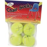 Chair Socks, Yellow, Pack of 4