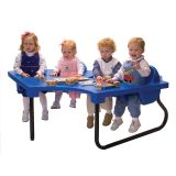 4 Seat Junior Toddler Table, Red