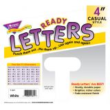 4 Uppercase Casual Solids Ready Letters®, White