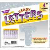 Casual Uppercase Ready Letters, Blue Sparkle, 4