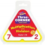 Three-Corner® Flash Cards, Multiplication and Division