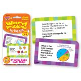 Test Prep Math Word Problems Flash Cards, Grades 1-3