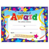Certificate of Award