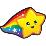Rainbow Stars superShapes Stickers, Large