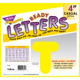4 Uppercase Casual Solids Ready Letters®, Black