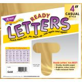 4 Uppercase Casual Ready Letters®, Metallic Gold