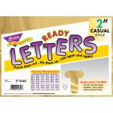 Casual Uppercase Ready Letters, Yellow Sparkle, 2