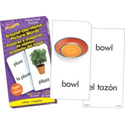 Around-the-Home Picture Words Skill Drill Flash Cards, English/Spanish