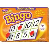 Subtraction Bingo Game