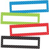 Polka Dots Desk Toppers® Name Plates