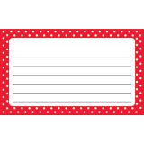 Polka Dots Terrific Index Cards , Lined