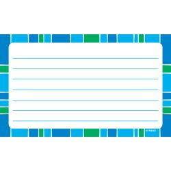 Stripe-tacular Terrific Index Cards , Cool Blue Lined