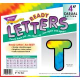 4 Uppercase Casual Solids Ready Letters®, Tie-Dye