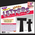 Playful Solids 4 Uppercase/Lowercase Ready Letters® Combo Pack, Black