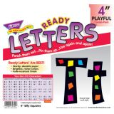 Playful Patterns 4 Uppercase/Lowercase Ready Letters® Combo Pack, Silly Squares