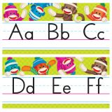 Sock Monkeys Alphabet Line