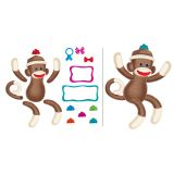 Sock Monkeys Mini Bulletin Board Set