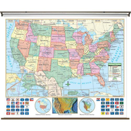 US Primary Wall Map UMG - 1808 map of the us