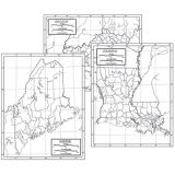 50 State Outline Map Set, Paper
