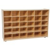 30-Tray Storage, 38H x 58W, Without Trays, Natural