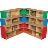 Folding Storage Unit, 23-1/2H, Green Apple™