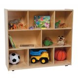 Mobile Storage Unit, 43-5/8H, Natural