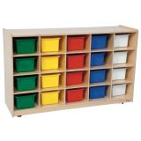20-Tray Storage, 30H x 48W, With Color Trays, Strawberry Red®