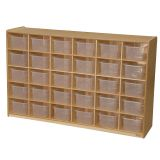 30-Tray Storage, 38H x 58W, With Translucent Trays, Natural