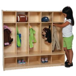 5 Section Seat Locker, 54W, Strawberry Red®