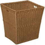 Plastic Wicker Basket, 12W x 13 1/2D x 14 1/2H, Single