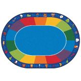 Fun with Phonics Rug, 8'3 x 11'8 Oval