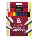 Sargent Art® Classic Markers, Broad Tip, 8 colors
