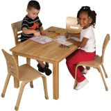 Deluxe Hardwood Table, 24 x 48 Rectangle with 18 Legs