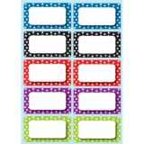 Die-Cut Magnets, White Dots Color Nameplates