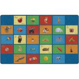 See My Alphabet PhotoFun Rug™, 10'6 x 13'2 Rectangle, Multi