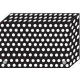 Smart Poly™ Index Card Boxes for 4 x 6 Cards, B/W Dots