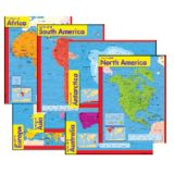 Continents Learning Charts Combo Pack
