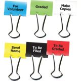 Teacher Clips, 1 1/4, 2 each: To Be Graded, Graded, Send Home, For Volunteer, To Be Filed, Make Copies