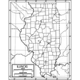 Outline Map, Paper, Illinois