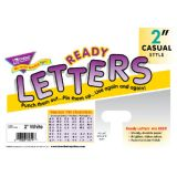 2 Uppercase Casual Solids Ready Letters®, White