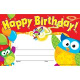 Owl-Stars!® Happy Birthday! Recognition Awards