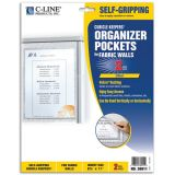 C-Line® Sign Holders, Hook & Loop Backing for Fabric Surfaces/Cubicles, Pack of 2