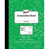Marble Composition Book, Grade 1, Green, 1 Ruled