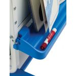 Dual Duty Teaching Easel, Holds 12 devices with 4 Open Tubs
