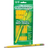 Original Ticonderoga® Pencils, Unsharpened, Box of 12
