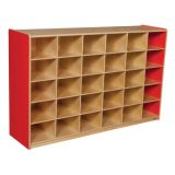 30-Tray Storage, 38H x 58W, Without Trays, Strawberry Red™