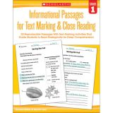 Informational Passages for Text Marking & Close Reading, Grade 1