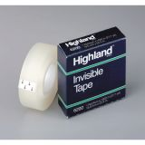 Highland™ Invisible Tape, 3/4 x 36 yds, 1 core