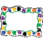 Colorful Paw Prints Blank Cards Accents, 5