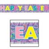Metallic Fringed Happy Easter Banner